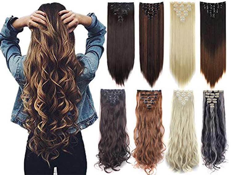 extensiones cabello tipo clip